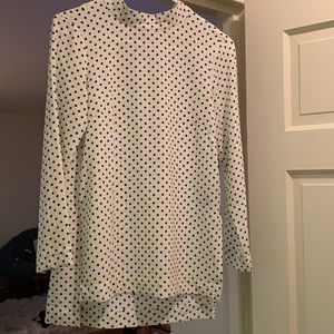 Polka dot white and black shirt